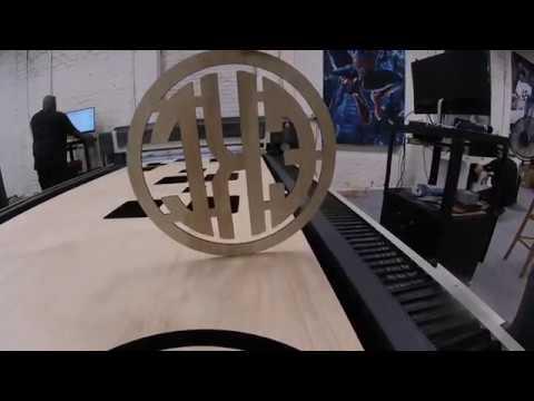 Laser Cutting Wood Monogram