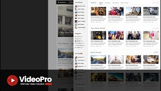 VideoPro - How to configure VideoPro homepage