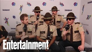 Super Troopers 2 Cast Jokes They Got A Cease & Desist From Canada | SDCC 2018 | Entertainment Weekly