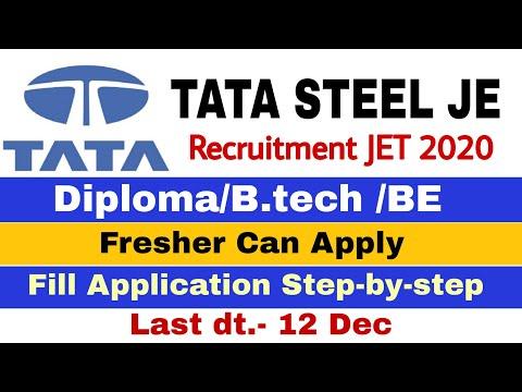 TATA STEEL JE Trainee Recruitment 2019-20 | TATA Steel JET 2019 | Apply & Fill Step-by-Step