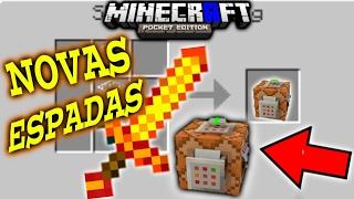 COMO TER NOVAS ESPADAS USANDO (COMMANDOS) NO MINECRAFT PE 1.1.0.8 (COMMAND BLOCK)- POCKET EDITION!-
