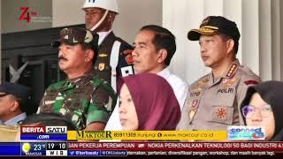 Didampingi Kapolri dan Panglima TNI, Jokowi Pantau Gladi Resik Upacara HUT RI