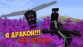 КАК СТАТЬ ДРАКОНОМ КРАЯ В МАЙНКРАФТ БЕЗ МОДОВ !!! - Minecraft 1.8