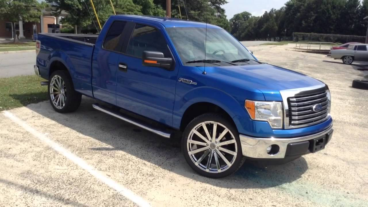 "Ford F150 Rims >> 2011 Ford F-150 on 24"" Velocity 12B Rimtyme in the Bull City - YouTube"