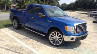 "2011 Ford F-150 on 24"" Velocity 12B Rimtyme in the Bull City Thumbnail"