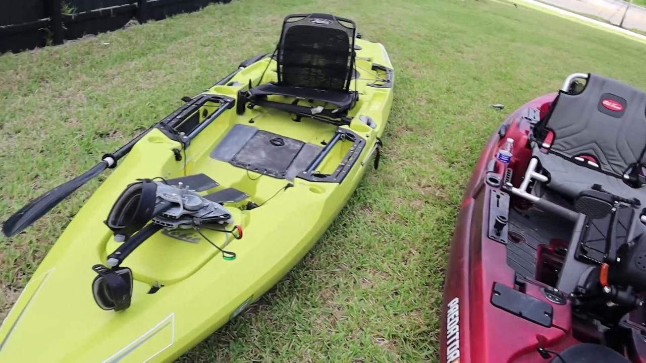 Best Fish Finder For Kayak 2020 Hobie Outback 2019 Vs 2020 Old Town Predator PDL   YouTube