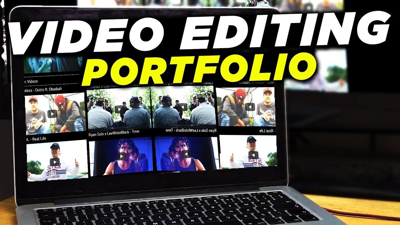 Build a Video Editing Portfolio and Showreel | Make Money ...