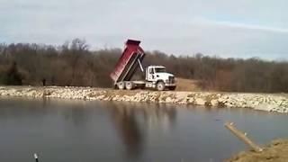 Mack Dump Truck Gravel Spread