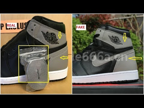 4055dfaa74b Real VS Fake Air Jordan 1 OG Shadow And How Many pairs Made? - YouTube