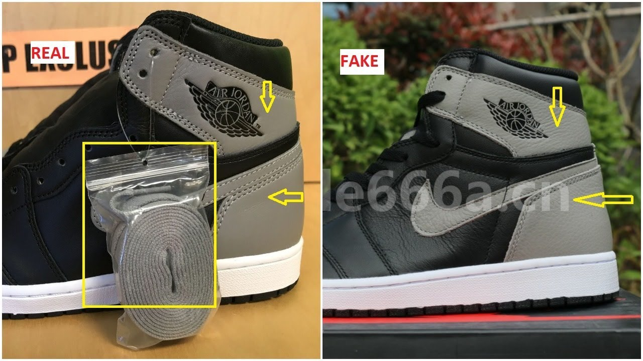 quality design b758a 196c2 Real VS Fake Air Jordan 1 OG Shadow And How Many pairs Made