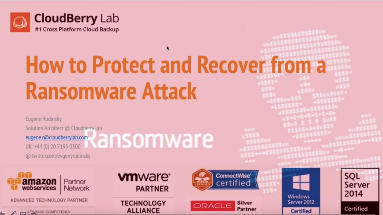 [WEBINAR] Ransomware Protection Tips & Strategies with Cloudberry Backup