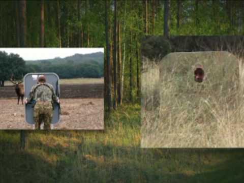 Jim shockey shadowshield mirrored hunting youtube for Mirror hunting blinds