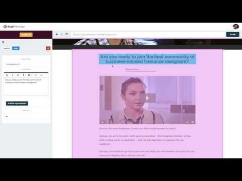 RightMessage - Progressive Personalization - First Release