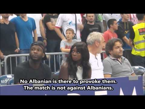 "Serbian fans chant ""Kill albanians so they don't exist"" without provocation"