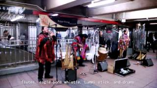 Native American Music Rocks Subway Station