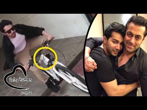 Video - Varun Dhawan Rides Salman's Being Human E- Cycle