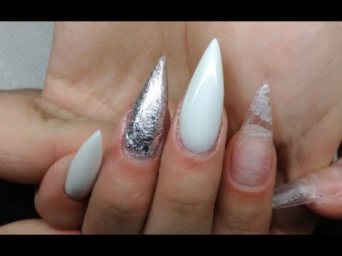 How To Acrylic Almond Shaped Nails With Lace