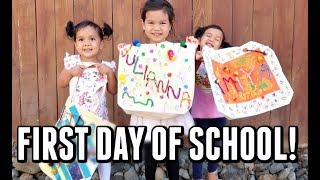 THEIR FIRST DAY OF SCHOOL! - September 12 2017 -  ItsJudysLife Vlogs