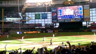 Prince Fielder 2 run homer in game 1 of 2011 NLDS