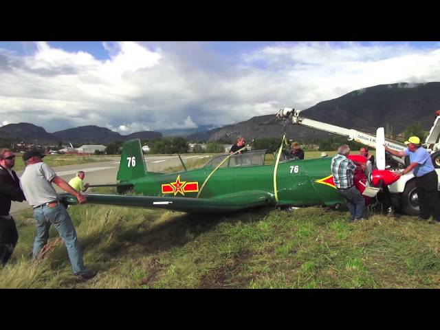 Recovery of a Nanchang CJ 6A after an accidental gear up landing