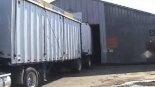 Backing up a Double Semi Tractor Trailer #2
