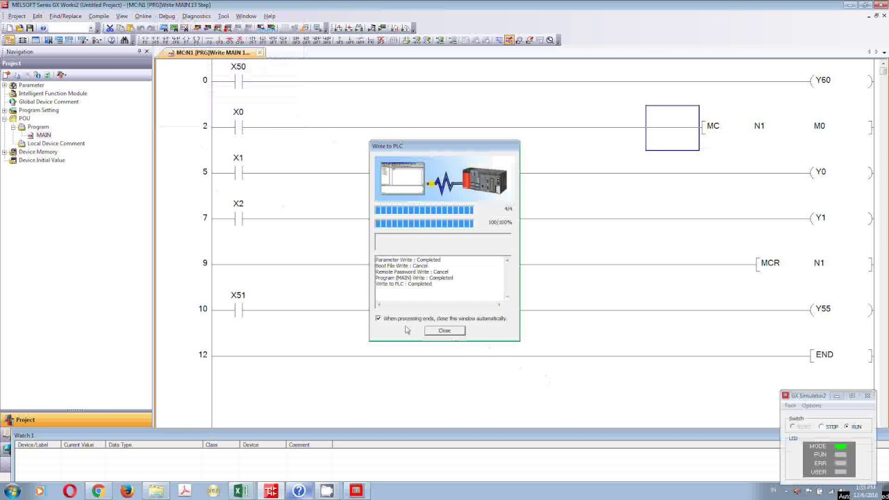 How To Make Master Control Instruction Plc Mitsubishi