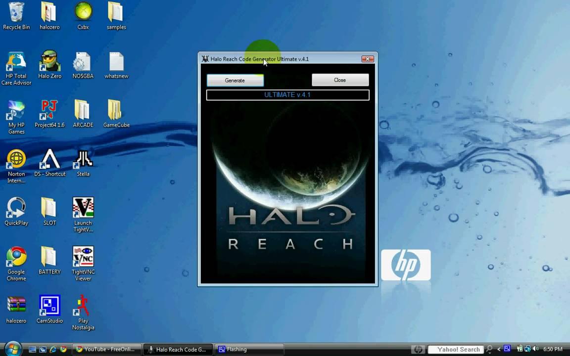 Halo Reach: WORKING Code Generator