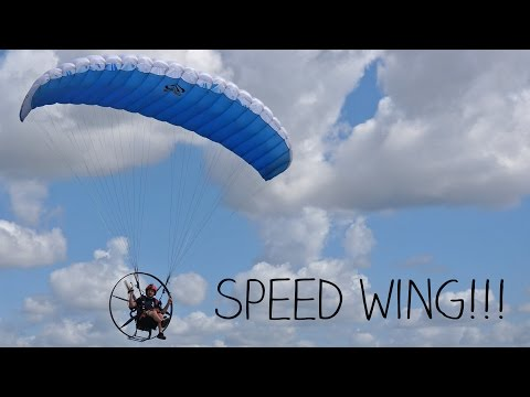 Flying A Speed Wing With A Paramotor!!