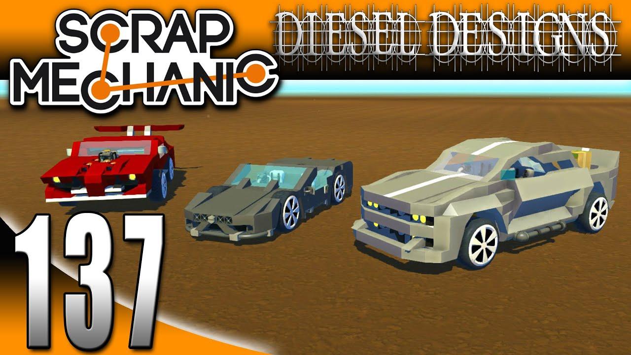 Scrap Mechanic Gameplay :EP137: FAN CREATIONS: Sports Cars, Trucks ...