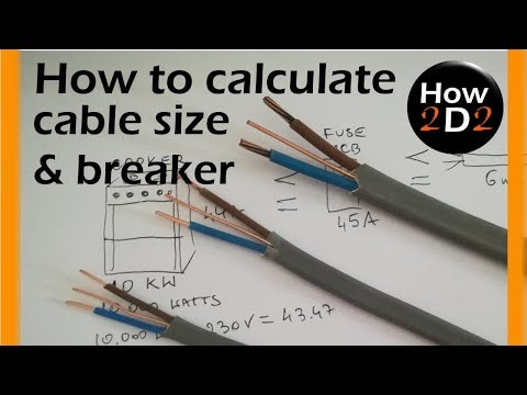 Cable size Circuit breaker amp size How to calculate What cable thumbnail