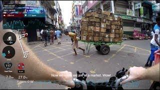 Brompton bicycle ride in Colombo, Sri Lanka