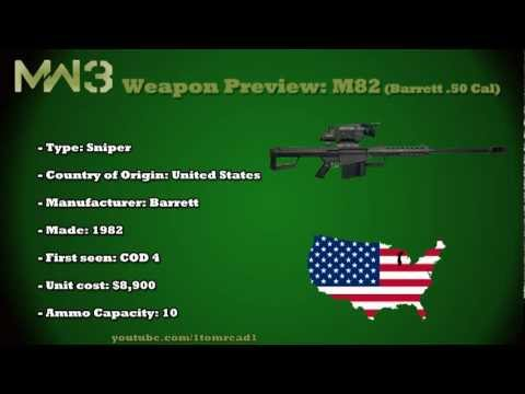 MW3 Guns M82 Barrett  50 Cal - TheMW3Sniping