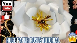 Big Paper Flowers Tutorial OMG SO HUGE!!!