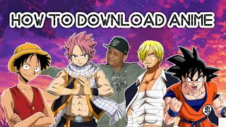 How to download anime manga or Kdrama
