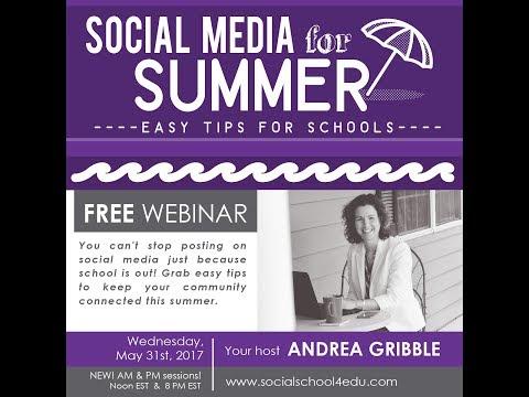 Social Media for Summer - Easy Tips for Schools