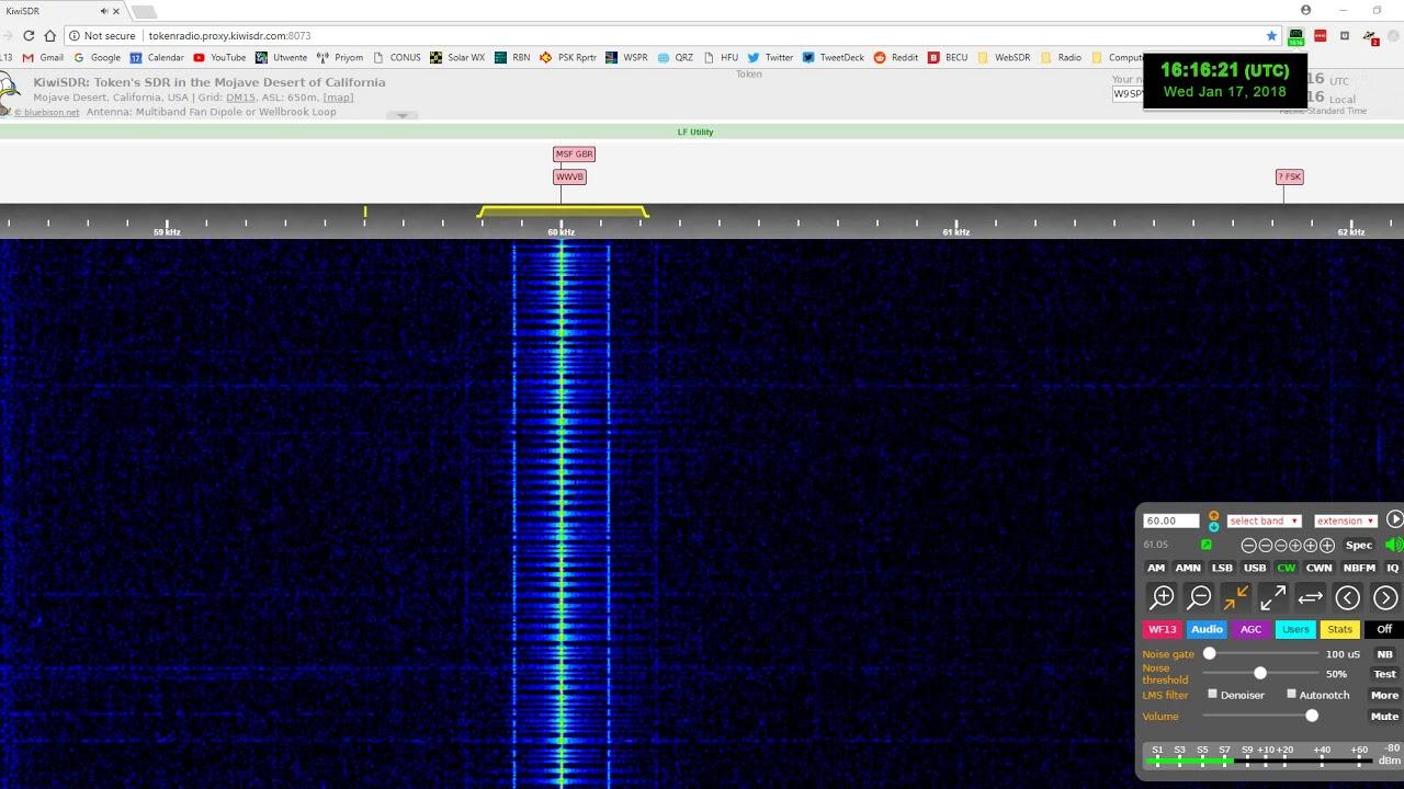 Low Frequency utility signal WWVB