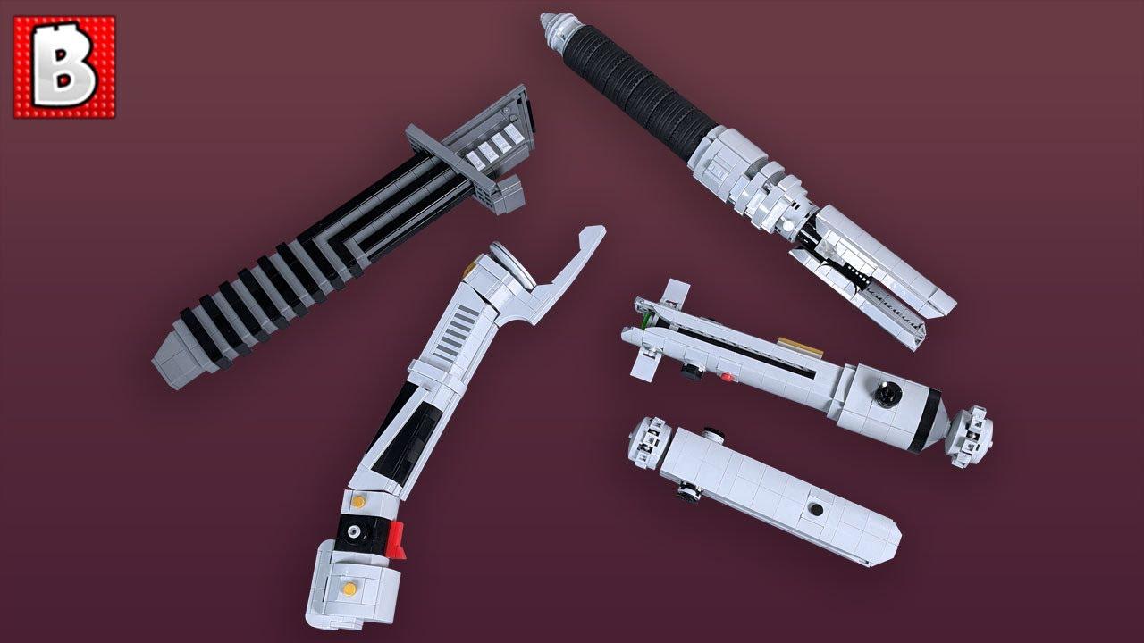 Custom LEGO Lightsaber Hilts! Ahsoka, Dooku, Darksaber, and Cal Kestis