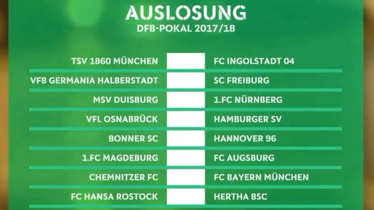 Dfb Pokal 1 Runde Auslosung