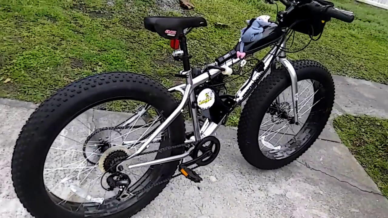 40mph Mongoose Malus Fat Tire Gas Bike With 80cc Stinger Kit