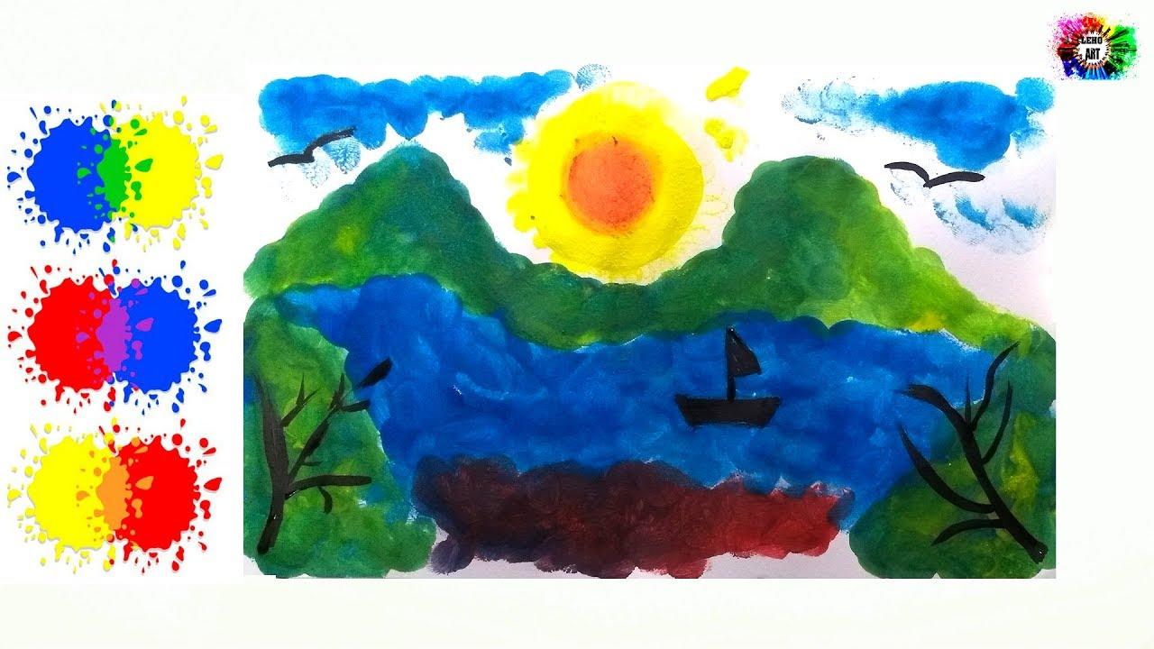 Dibujos De Paisajes En Color: Dibujos A Color De Paisajes Faciles