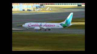 Caribbean Airlines Taxi to Gate (FS2004)