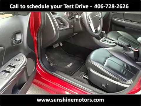 2012 Chrysler 200 Used Cars Missoula Mt Youtube