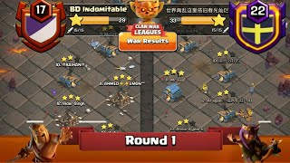 Clan War Leagues - TH12 Attacks - Clash Of Clans - Round 1 (Season 2)