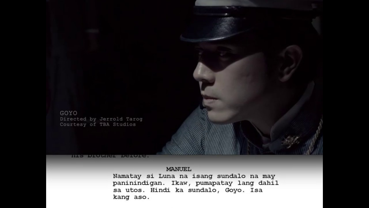 CineScript: Goyo: Ang Batang Heneral