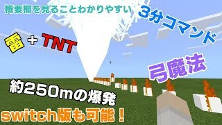 【マインクラフト】switch版 「コマンド」TNTと、雷落ちる、魔法の弓