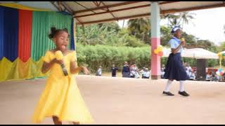 Graduation show... st.ann's primary - Never give up - cover