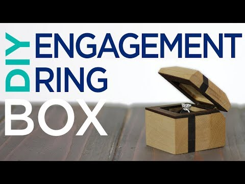 DIY Engagement Ring Box / Woodworking | 13