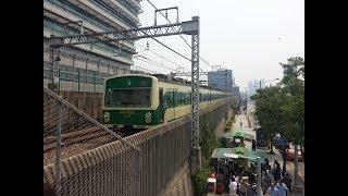 서울메트로 2호선 한양대역 열차 도착 및 출발영상(Arriving train and leaving train at Seoul line 2 Hanyang univ station)