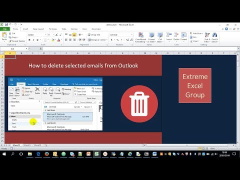 Excel Macro to DELETE specific emails from Outlook | VBA