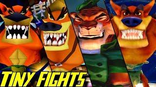 Evolution of Tiny Tiger Battles in Crash Bandicoot Games (1996-2017)